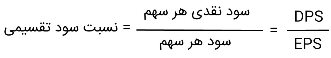 فرمول محاسبه نسبت سود تقسیمی
