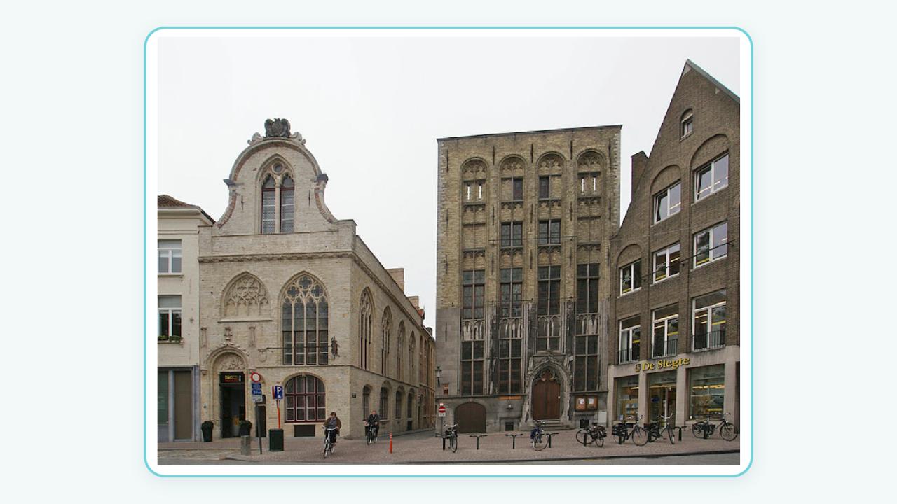 ساختمان قدیمی بورس در بلژیک